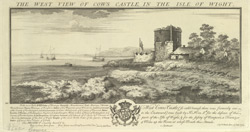 The West View of Cowes Castle in the Isle of Wight